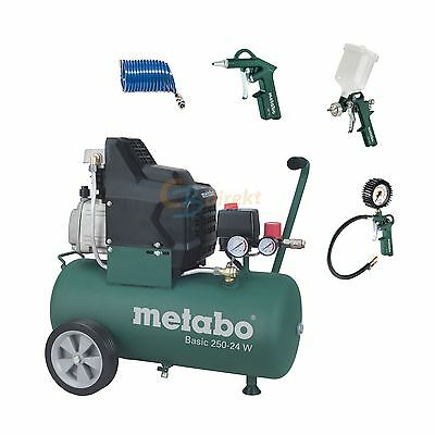 METABO COMPRESSOR BASIC 250-24 W + PNEUMATIC Set LPZ 4 Set