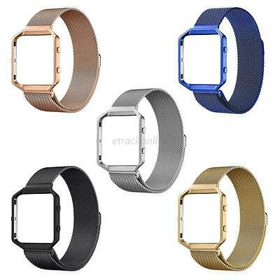 Replacement Stainless Steel Watch Band+Metal Frame For Fitbit Blaze Smart Watch