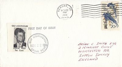 U.S.A. LOCAL POST :OLD LIGHTHOUSE LOCAL  POST 1969 Robert Kennedy on FD cover
