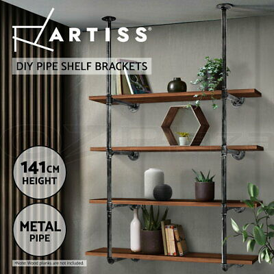 Rustic DIYCeiling Pipe Shelf Wall Vintage Hung Bracket Industrial  Shelves