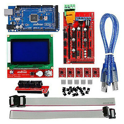 3D Printer Kit Ramps 1.4 + Mega 2560 + 5*A4988 +12864 LCD Controller for Arduino