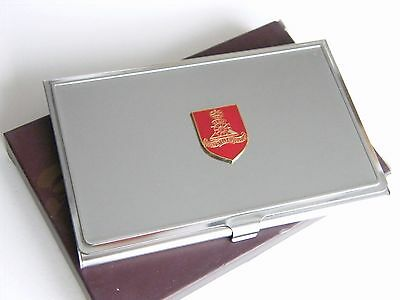 THE ROYAL MILITARY POLICE ARMY BADGE MILITARY BUSINESS CREDIT CARD HOLDER CASE