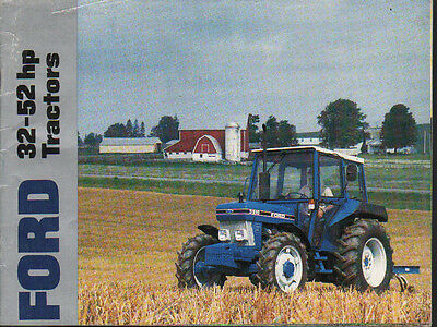 Ford 32-52hp, 10 Series Tractor Brochure Leaflet