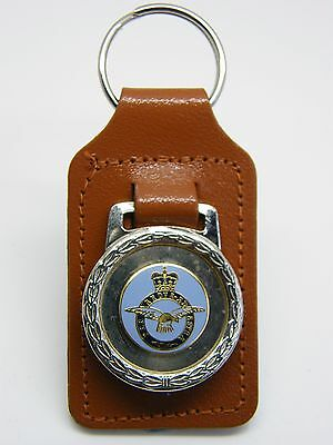 The Royal Air Force Raf Badge Military Detail Leather Keyring Key Fob Gift