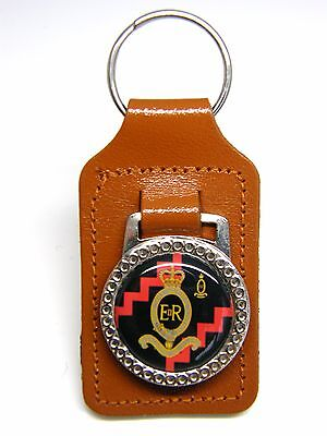 The Royal Horse Artillery Army Military Badge Leather Keyring Key Fob Gift