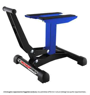 Cavalletto alzamoto a leva blu cross enduro motard altezza 30 cm-40 cm