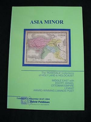 DAVID FELDMAN AUCTION CATALOGUE 2004 ASIA MINOR with HOLY LAND & HOLOCAUST