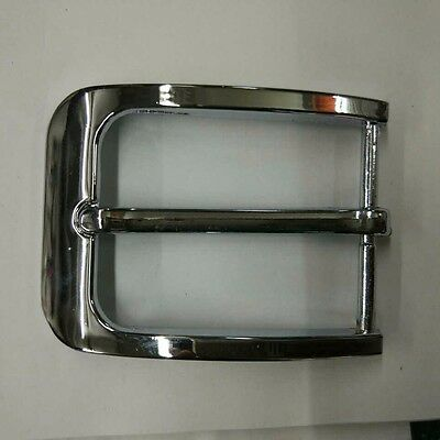 Zinc Alloy Pin Buckle for Men Women Leather Belt Spare Replacement 35mm Silver