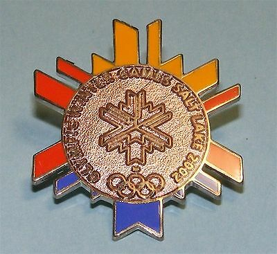 SALT LAKE CITY 2002 Olympic Collectible Logo Pin - Multi-Color COPPER Center