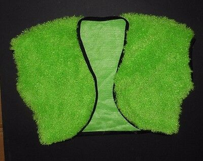 NWOT Lime Green Supersoft Fuzzy Bolero Jacket Small adult Dance costume poodle