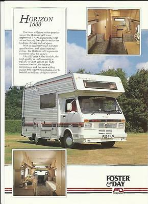 Vw Volkswagen Foster & Day Horizon 1600 Motorhome Sales Brochure/sheet @ 1990