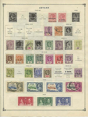 CEYLON--Lot of 58 stamps mounted pre 1940 Cat. Value $147.95