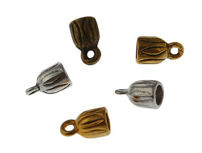 200Pcs End Cap Stopper Fit 3mm Leather Cord Bracelet Marking Charms Metal Bead