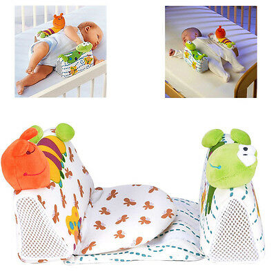 CA Baby Newborn Anti Roll Pillow Sleep Positioner Prevent Flat Head Cushion Toy