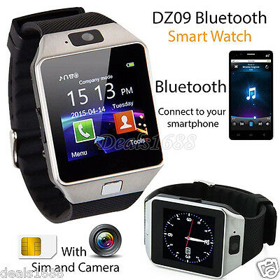 Bluetooth Sports Smart Watch Phone Mate GSM SIM DZ09 For IOS iPhone Samsung Lot