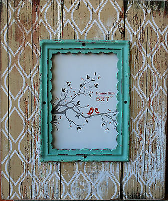 """X Large Rustic Vintage Style  Wood  Photo Frame   (  7 """"  x   5  """" )   BRAND NEW"""