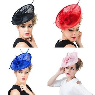 1pcs Large Headband Aliceband Hat Fascinator Wedding Ladies Day Race Royal Ascot