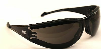 NEW Anti-Fog Padded Motorcycle Biker Sunglasses Glasses Free Pouch & Postage
