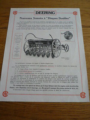 DEERING DOUBLE DISC SEEDER  BROCHURE 1925 jm