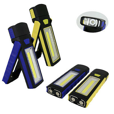 Hot COB LED Magnetic Work Stand Hanging Hook Light Flashlight YO@