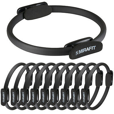 MIRAFIT 10 x Black Pilates Resistance Rings For Exercise/Yoga/Pilate Gym Class