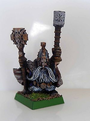 Age Of Sigmar Dwarf / Dispossessed Runelord - Metal - Painted