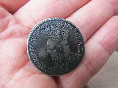 Original RARE  SILVER Medal 1633  SCOTTISH CORONATION OF CHARLES I  About VF
