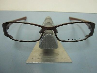 OAKLEY womens COTO 2.0 polished brown 12-045 RX eyeglass frame NEW in baggy