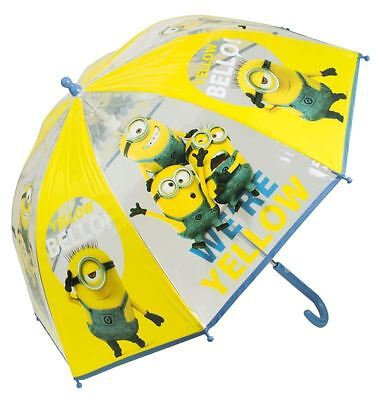 Despicable Me Minions Bubble Umbrella Kids Boys Girls Rain School Travel Brolly