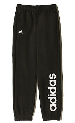 adidas Kinder Trainings Sport Hose Essentials Linear Pant Brushed CH schwarz