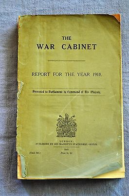 The War Cabinet, Report For The Year 1918