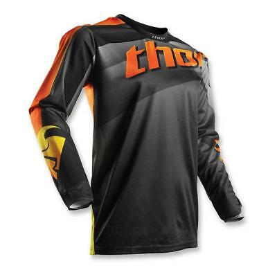 Thor 2017 Herren Motocross / MTB Jersey - PULSE VELOW - schwarz-orange-grau
