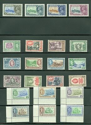 BRITISH HONDURAS : Beautiful collection all MOG & in VF Condition. SG Cat £293.