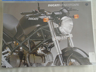 Ducati Monster Dark motorcycle brochure c1998 multi text