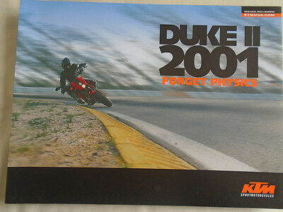 KTM Duke II motorcycle brochure c2001 USA market
