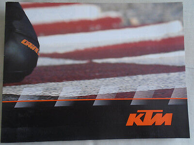 KTM range Motorcycle brochure 2008 English & Italian text