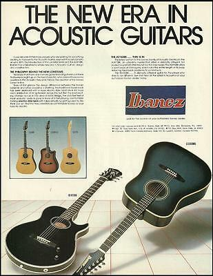 The Ibanez AE Acoustic/Electric Lonestar Series Guitar ad 8 x 11 advertisement