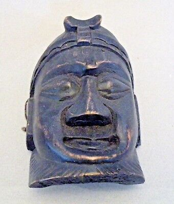 dgo105 JAPAN FOLK ART CARVED WOOD MASK, SMALL SIZE