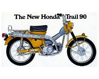 1969 Honda Trail 90 CT90 K1 Motorcycle Factory Photo ca5632