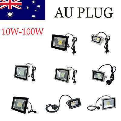 AU Plug 10W-100W Flood Light SMD LED Outdoor Lamp Spotlight AC 220V-240V IP65
