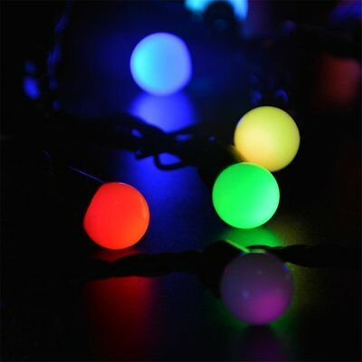 5m rgb led lichterkette 50 kugeln bunt partybeleuchtung bunt partylichterkette eur 10 44. Black Bedroom Furniture Sets. Home Design Ideas