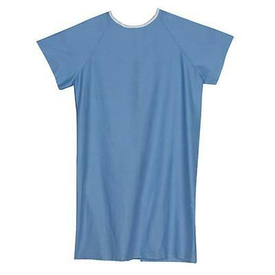 Mabis 532-8030-0100 Convalescent Gown with Tape Ties Blue