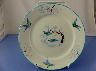 Blue Birds Bread & Butter Plate By Ye Olde English Grosvenor China England