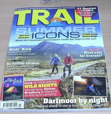 Trail hillwalking magazine JUL 2016 Glen Coe, Bristly Ridge, Dartmoor, Everest &