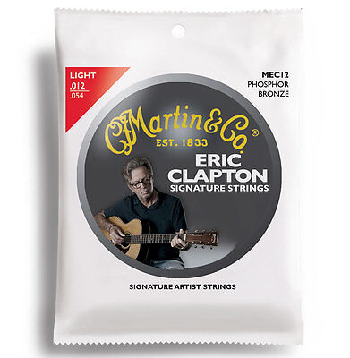 Martin MEC12 Clapton's Choice Acoustic Guitar Strings Phosphor Bronze Light