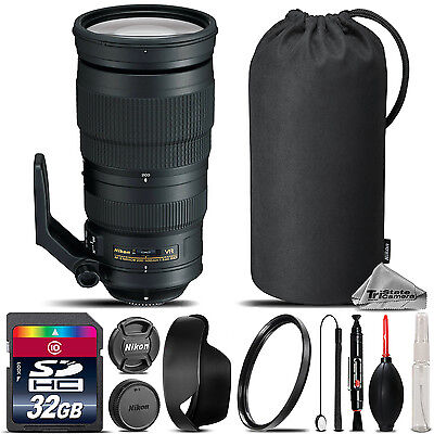 Nikon AF-S NIKKOR 200-500mm f/5.6E ED VR Lens + UV Filter + Case - 32GB Kit