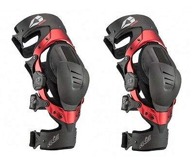 EVS Adult MX ATV Injection Molded Axis Sport Knee Braces (Pair) S-XL