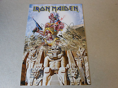 IRON MAIDEN post card SOMEWHERE BACK IN TIME