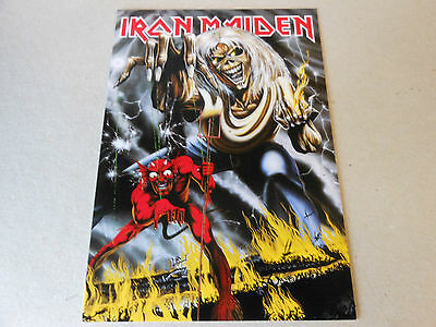 IRON MAIDEN post card NUMBER OF THE BEAST ,