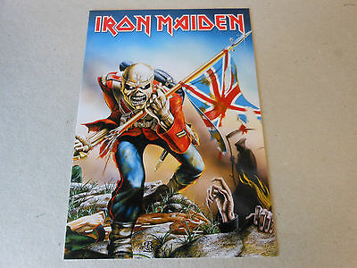 IRON MAIDEN post card  THE TROOPER